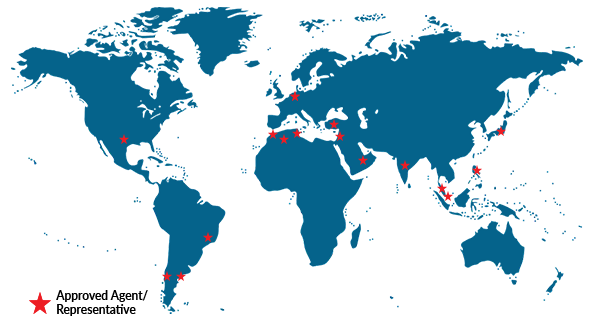 World Map of Knight Aerospace Approved Agents and Representatives