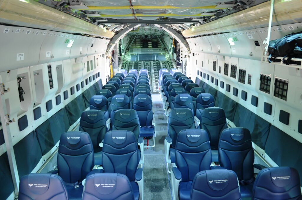 A photo of the passenger palletized system Knight Aerospace delivered to the Brazilian Air Force